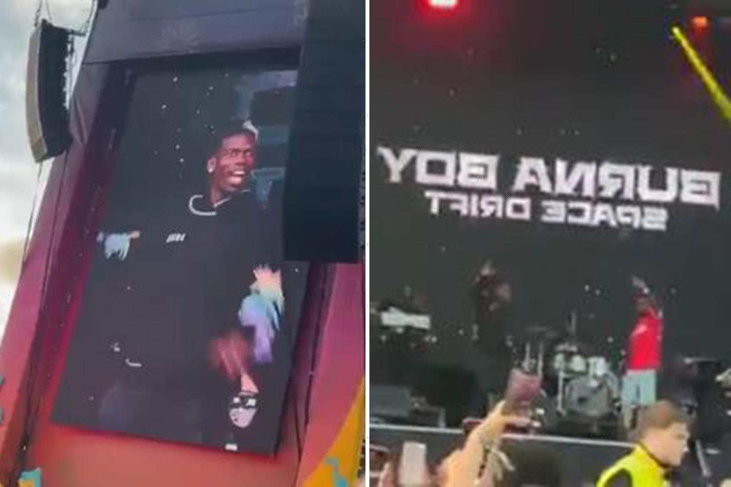 Watch Paul Pogba dancing on stage with rapper Burna Boy at Parklife festival after helping Man Utd beat Newcastle