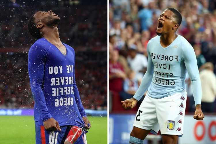 Who is Steffie Gregg and why did Leon Bailey and Raheem Sterling both reveal shirts with her name on after scoring?