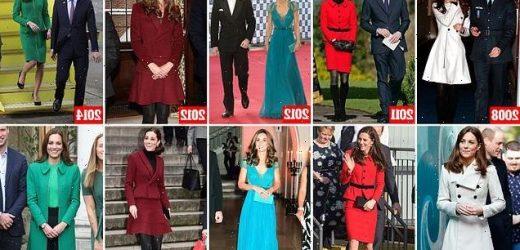 A royal Pre-pregnancy wardrobe! Kate Middleton leads the charge