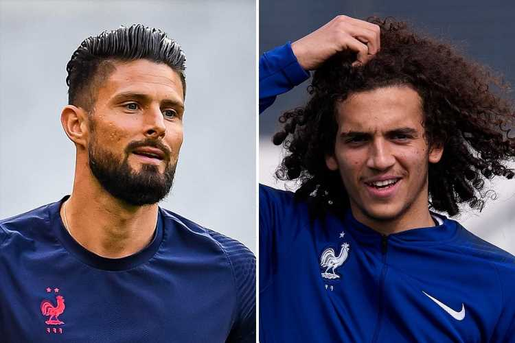 Arsenal loanee Matteo Guendouzi in line for France debut at Nations League finals with ex-Chelsea ace Olivier Giroud OUT