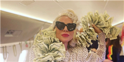 "Fans Think Lady Gaga's $$$ Boa Was Inspired by the ""Lady Gaga Style Pop Star Money Boa"" on Amazon"