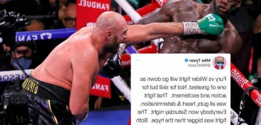 Mike Tyson says Fury fight with Wilder will go down as one of greatest EVER 'and both reached all-time great status'