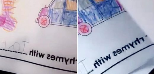 Mum left in hysterics after her daughter draws a guitar for her homework and it looks like something much naughtier