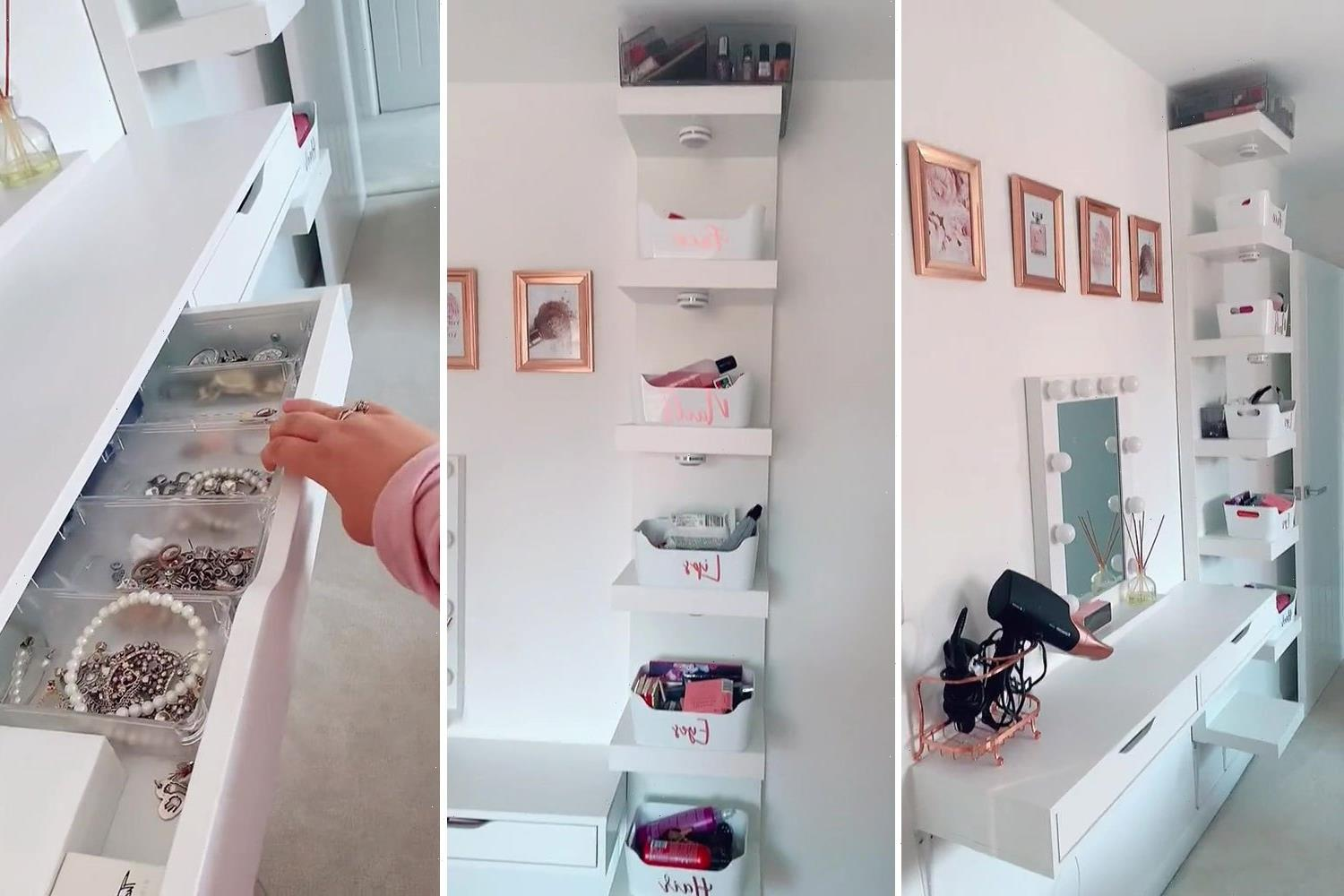 Mum with 'no space or money' creates stunning dressing table area in her bedroom using Ikea bargains