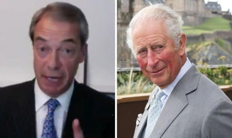 Prince Charles will 'bring down the monarchy' with 'stupid statements' claims Nigel Farage