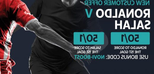 Ronaldo vs Salah – Get either at 50/1 to score first goal during Man Utd vs Liverpool with Novibet odds boost special