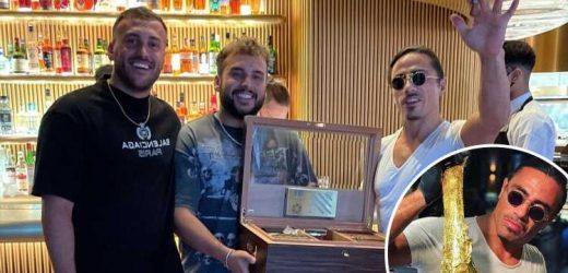 Salt Bae left stunned as Nusr-Et London diners tip him with a £2,000 box of cigars after devouring £630 steaks
