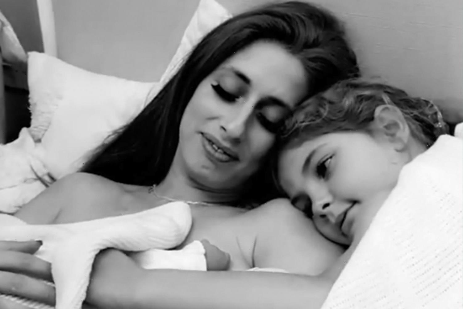 Stacey Solomon's sister Gemma reveals emotional moment star's newborn daughter met her cousins for the first time