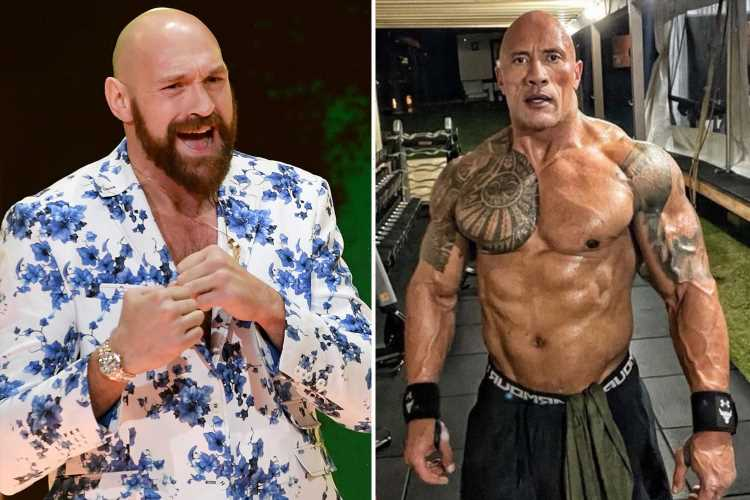 Tyson Fury astonished by Dwayne 'The Rock' Johnson's 'ripped' body at 49 as he pays 'respect' to WWE legend