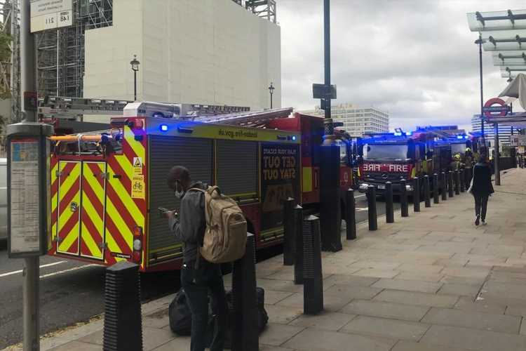 Westminster Station evacuated: 40 firefighters called after smoke billows from electrical room near Parliament